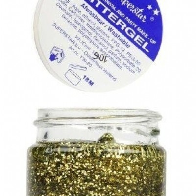 Foto van Gel superstar glittergoud (huid&haar) (20ml)