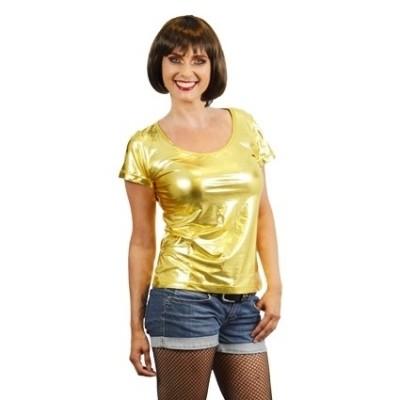 Foto van Dames shirt goud
