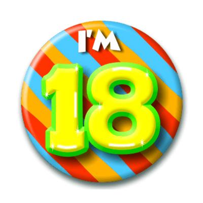 Foto van Button 18 jaar