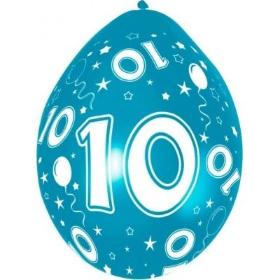 Foto van Ballonnen 5 stuks 10 jaar