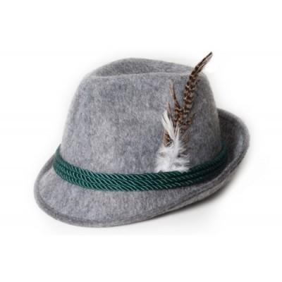 Foto van Tiroler hoed grijs Deluxe