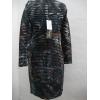 Afbeelding van Eroke jurk elegant zwart blauw gevoerd L XL