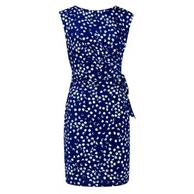 Foto van Smashed L jurk dark blauw stip 18032