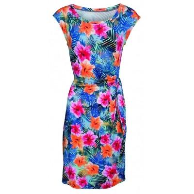 Foto van Smashed Lemon jurk viscose blauw 17328