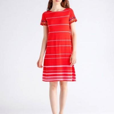 Foto van IVKO jurk katoen rood 81619