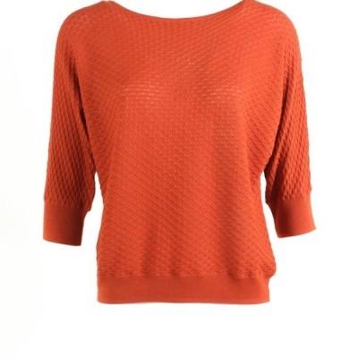 Zilch sweater katoen modal Brick