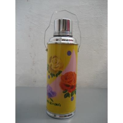 Foto van Thermosfles chinees geel roos