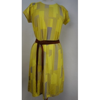 Oilily jurk viscose geel beige Dacey