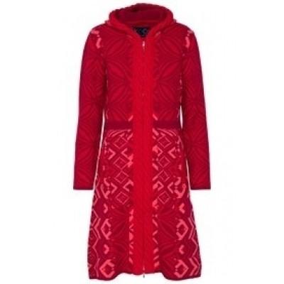 Kooi vest wol rood 17192