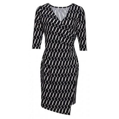 Foto van Smashed L jurk zwart wit 17880