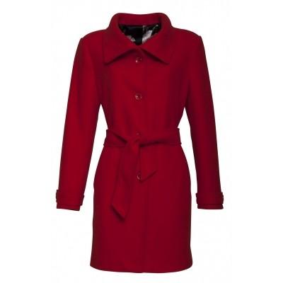 Foto van Smashed wolblend jas rood 17767