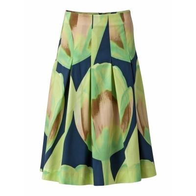 Oilily rok cotton tulpen motief groen blauw Susan