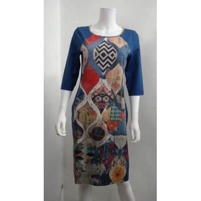 Lizzy & Coco jurk polyesther blauw Caya