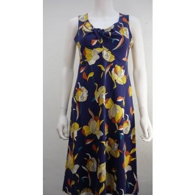 Foto van Zilch jurk katoen blauw violets