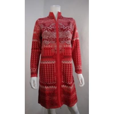 Foto van Kooi vest wol katoen rose rood 17103