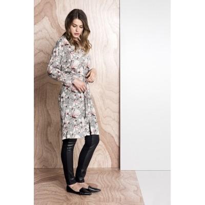 Foto van Kaffe bloes jurk grey viscose Isabel