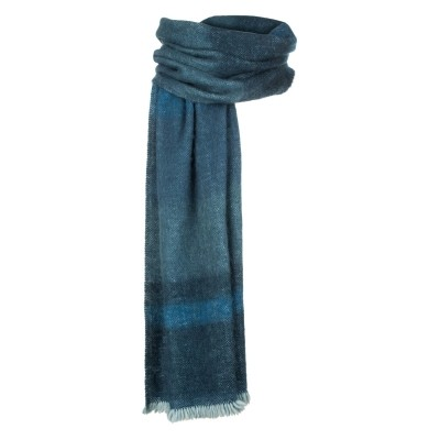 Foto van Inti handgeweven sjaal natural yarns jeans