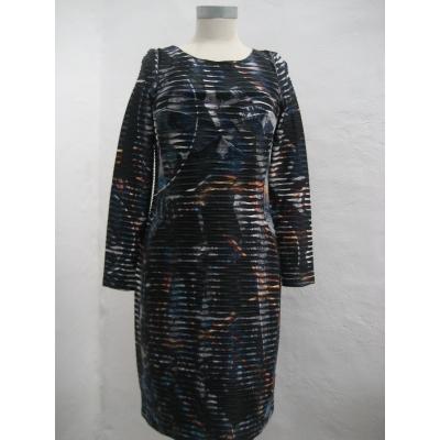 Eroke jurk elegant zwart blauw gevoerd L XL