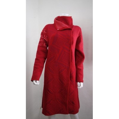 Kooi vest jas rood wol 17193