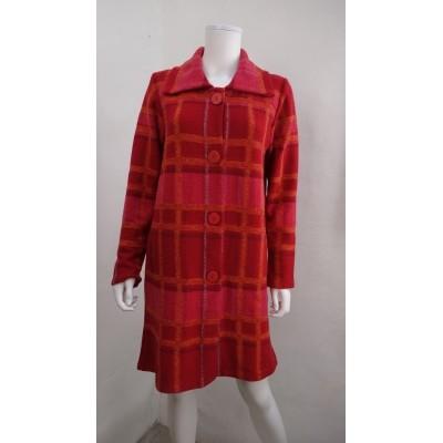 Foto van Kooi vest wol rood geruit 17186