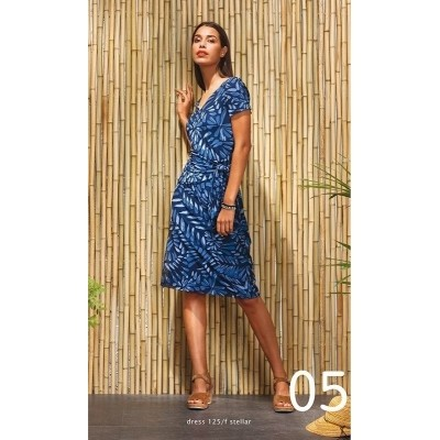 Foto van WAX jurk viscose blauw