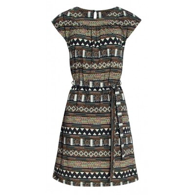 Foto van Smashed L jurk katoen kleurig 18050
