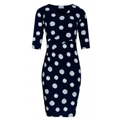 Foto van Smashed L jurk dark navy dots 18078