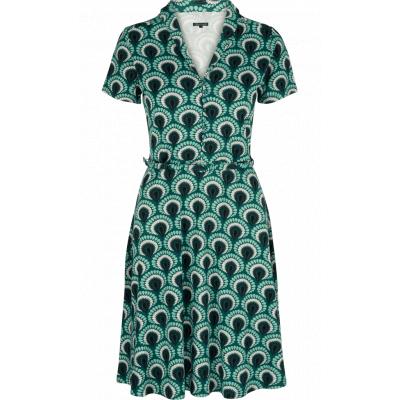 King jurk viscose groen Emmy Peacock