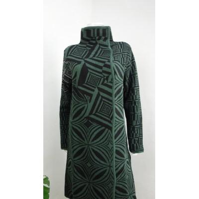 Foto van Kooi vest wol groen grijs 17193