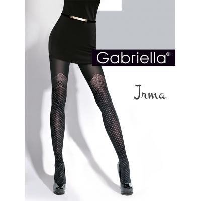 Foto van Panty zwart met rand aan bovenbeen irma