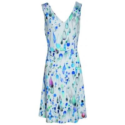 Foto van Smashed Lemon jurk wit blauw 17393