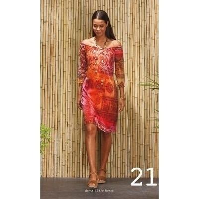Foto van Wax jurk viscose rood