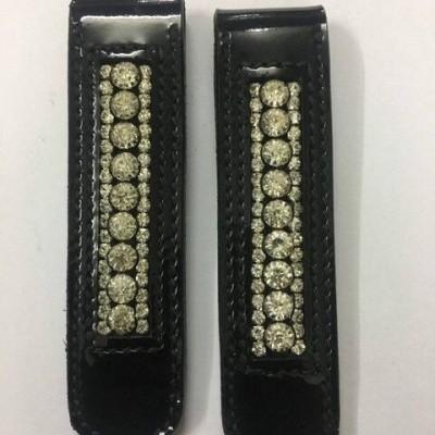 Foto van HB laarzen clips met steentjes zwart