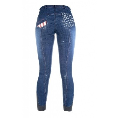 Foto van HKM rijbroek Stars & Stripes denim