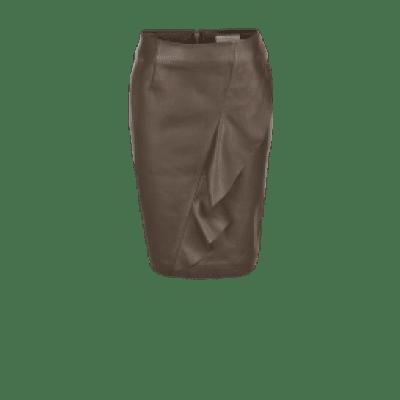 Foto van Dante6 Fibie ruffle leather skirt