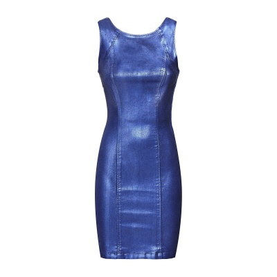 Foto van Guess coated dress metallic blue