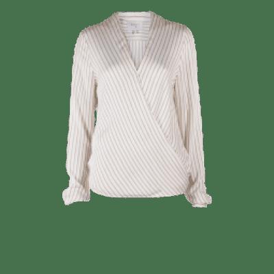 Foto van Dante6 Renoir striped wrap blouse milk white