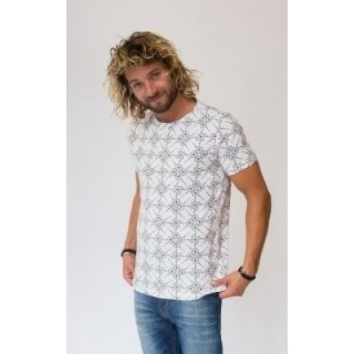 Amsterdenim T-shirt Jelle Bicycle White/Black