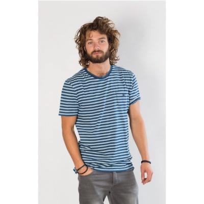 Amsterdenim T-shirt DANNY Blue stripes