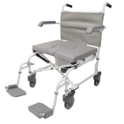 Foto van Douche - Toilet stoel XL verrijdbaar Duo Motion 5 inch wielen