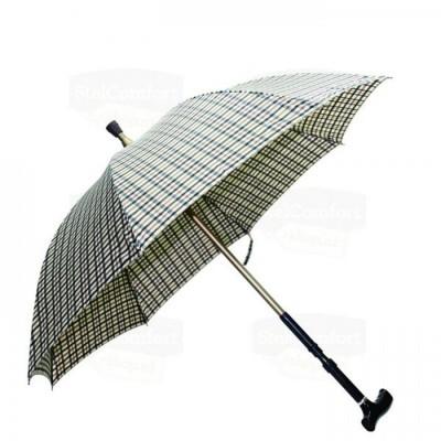 Foto van Wandelstok en paraplu (2 in 1) Beige
