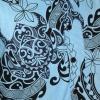 Afbeelding van Overhemd korte mouw Tribal lichtblauw zwart