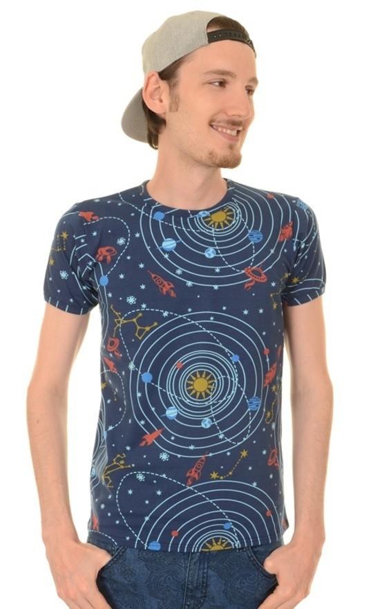 T-shirt retro rockets cosmic solar intergalactic