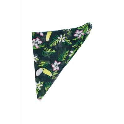 Bandana tropical bird groen