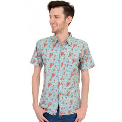 Overhemd met korte mouw retro kreeft