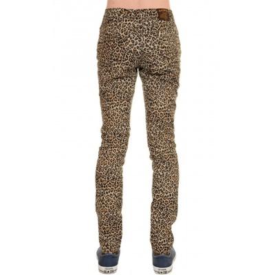 Broek met luipaard print skinny model