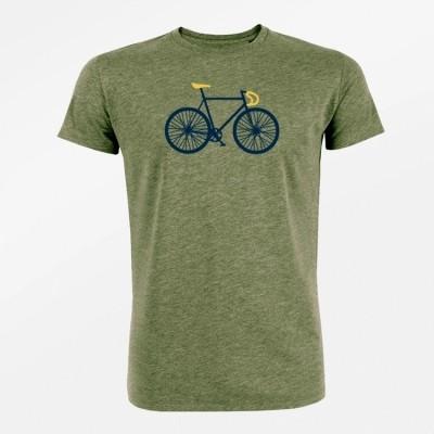 T-Shirt bike free bio katoen heather khaki