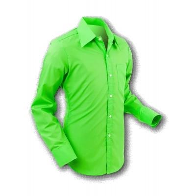 Overhemd 70s Basic Grass-Green