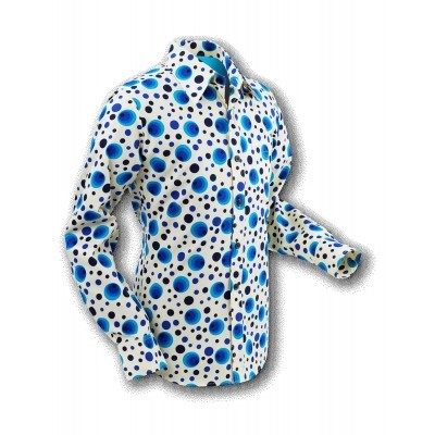 Overhemd Seventies Dots and Spots Blue