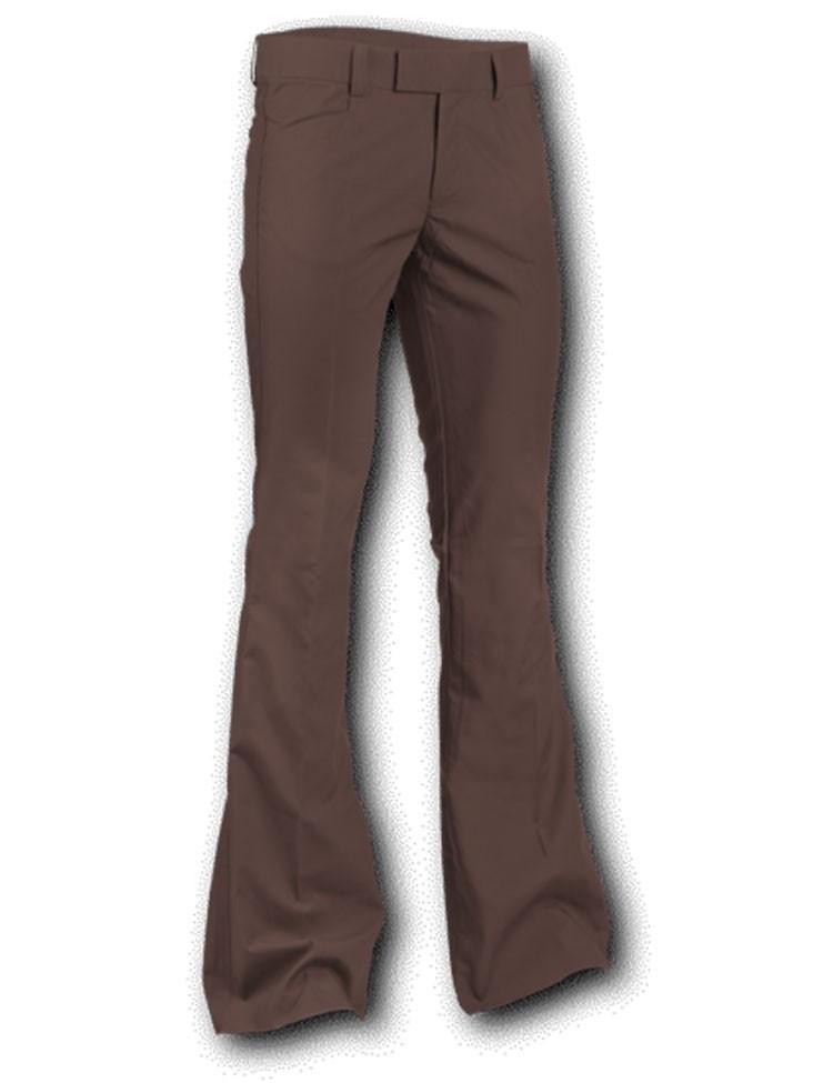 Pantalon met uitlopende pijp Bruin